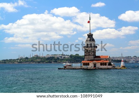 The Leander's Tower (Kiz Kulesi) istanbul, Turkey