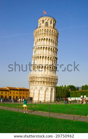 The Leaning Tower of Pisa, Tuscany area of Italy