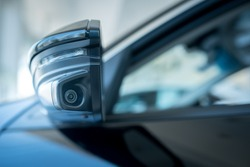 The left-hand mirror camera of the car, the camera helps to find blind spots, increasing the efficiency of seeing the left-turn camera of modern cars.