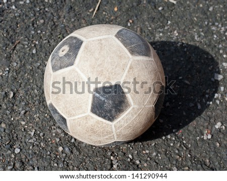 The left old ball on the ground
