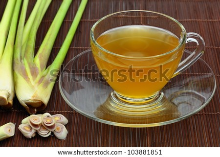 The lemon grass and lemon grass tea.