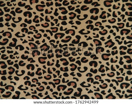 The leopard printed fabric background Foto stock ©