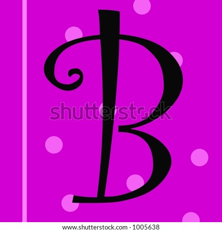 The Letter B on a Pink Background