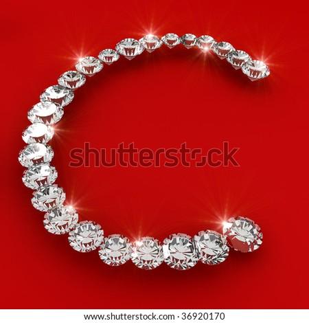 The letter C 3d diamond art illustration