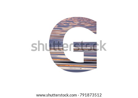 """The letter """"G"""" with color waves reflection insided  #791873512"""