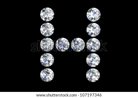 h letter in diamond  The Letter H In Diamonds