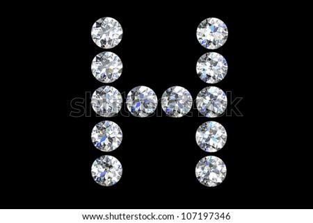 h letter in diamond  The Letter H In Diamonds