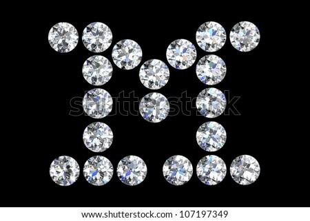 M Letter In Diamond The Letter M 3d Diamond Art