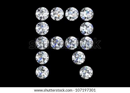 The letter R 3d diamond art  R Letter In Diamond