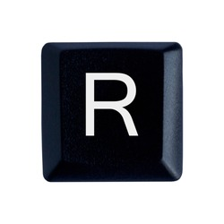 The letter R on the English keyboard.