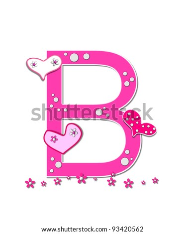 U Alphabet In Heart The letter U, in the alphabet set Heart full, is pink outlined with ...