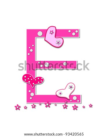 Reflective Letter U with Inferno Pink Flames | Alphabet ... |The Letter U In Pink