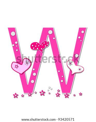 U Alphabet In Heart The letter U  in the alphabet