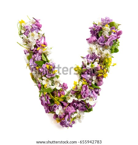 Free letters made of pink flowers v letter flower alphabet the letter v made of various natural small flowers altavistaventures Choice Image