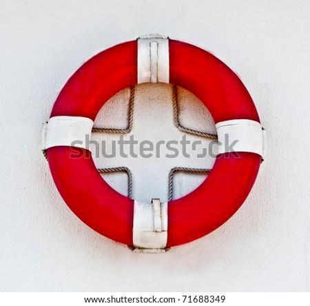 The Life buoy preserver isolated on white background