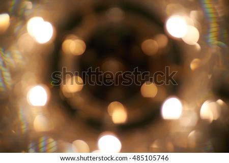 The light from the chandelier, Bokeh from chandelier lighting #485105746