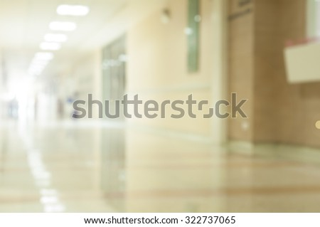 The Light of Hope on Blur Hospital Corridor