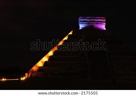 The light show at Chichen Itza