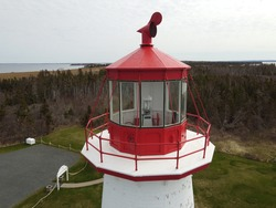 The lighthouse at Point Prim on a Spring day