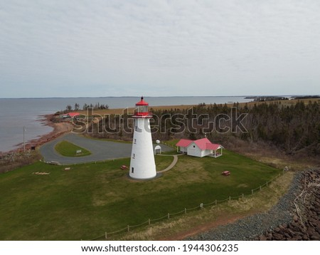 The lighthouse at Point Prim on a Spring day Stock foto ©