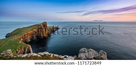 The lighthouse built by David Stevenson at Neist point on Skye, Scotland #1171723849