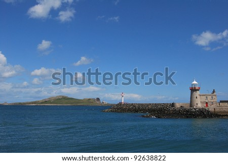 the lighthouse in howth near dublin, ireland