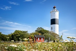 The Lighthouse of Lange Jan at the south cape of swedish island Oland in the Baltic Sea.