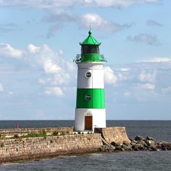 The Lighthouse of Schleimünde at Western coast of Baltic Sea marks the entrance from the sea into the Schlei. The beacon was built in 1871.