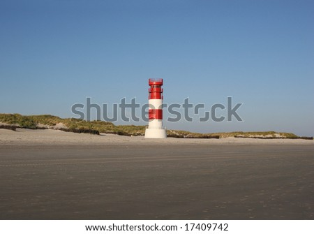 The lighthouse of the Helgoland neighbor island Düne in the german north sea