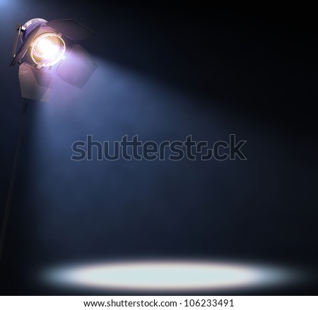 The lights illuminate the area where someone or something important is in the spotlight. His text or image in the center of the lights.