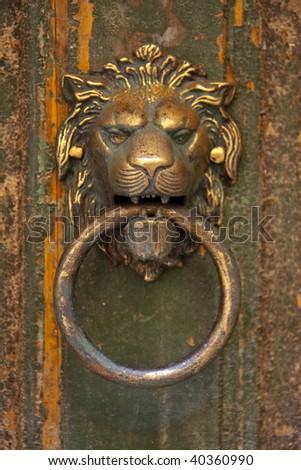 the lion's head door knocker