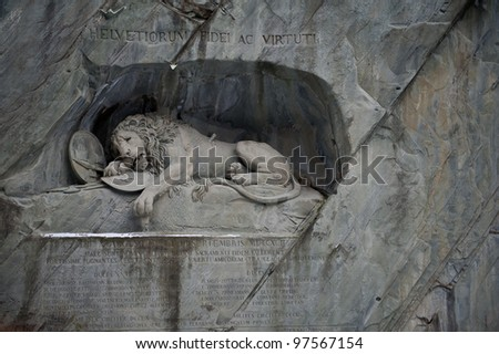 The Lion statue in Lucerne, Switzerland