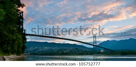 The Lions Gate Bridge in Vancouver, British Columbia.