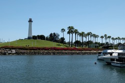 The Lions Lighthouse in Shoreline Aquatic Park in Long Beach California