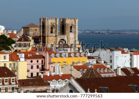 The Lisbon Cathedral in Lisbon, Portugal, originated in the 12th century, classified as a National Monument since 1910. #777299563