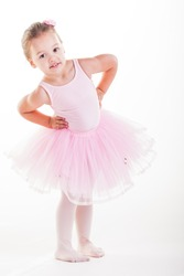 The little ballerina getting ready for class.