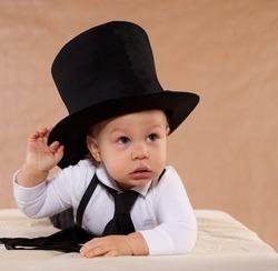 The little boy in a hat