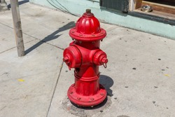 The Little colored fire hydrant