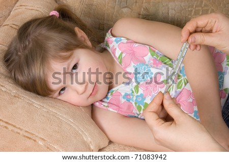 The little girl is ill