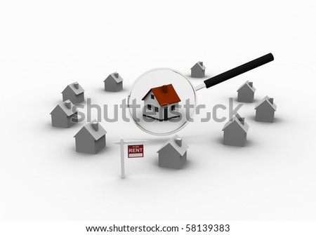 The little house as a successful real estate business on a white background. 3D graphics.