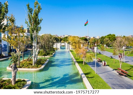 The Little Venice water park is located on the Baku Boulevard in the center of Baku city in Azerbaijan.