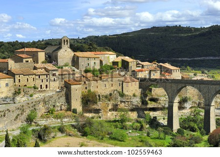The little winegrower village Minerve in the Languedoc in South France