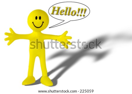 Picture Association Thread Stock-photo-the-little-yellow-man-says-hello-225059