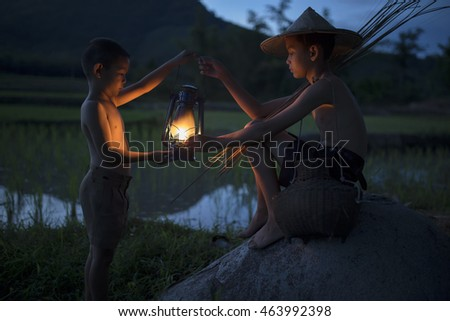 Shutterstock The lives of children in the countryside district Sangkhom of Nong Khai,Thailand.