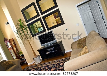 The living area of a modern house or condominium.