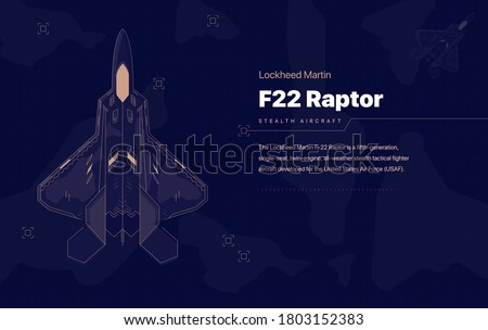 The Lockheed Martin F-22 Raptor is a fifth-generation, single-seat, twin-engine, all-weather stealth tactical fighter   aircraft developed for the United States Air Force (USAF). Stockfoto ©
