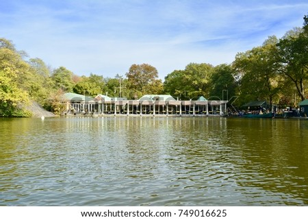 The Loeb Boathouse Central Park - New York - Shutterstock ID 749016625
