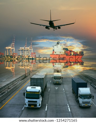 the logistics system services are all include seafreight saling with land trucking trailer and air swift delivery shipments always in time, one stop services for all kinds of transports cargo services