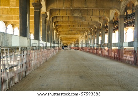 The long closed lower deck of Cleveland's Detroit-Superior Bridge, periodically opened to walking tours