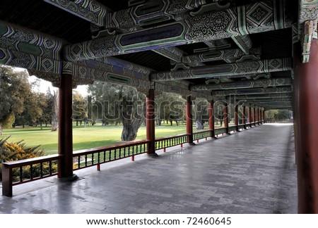 The Long Corridor in the Temple of Heaven, Beijing, China